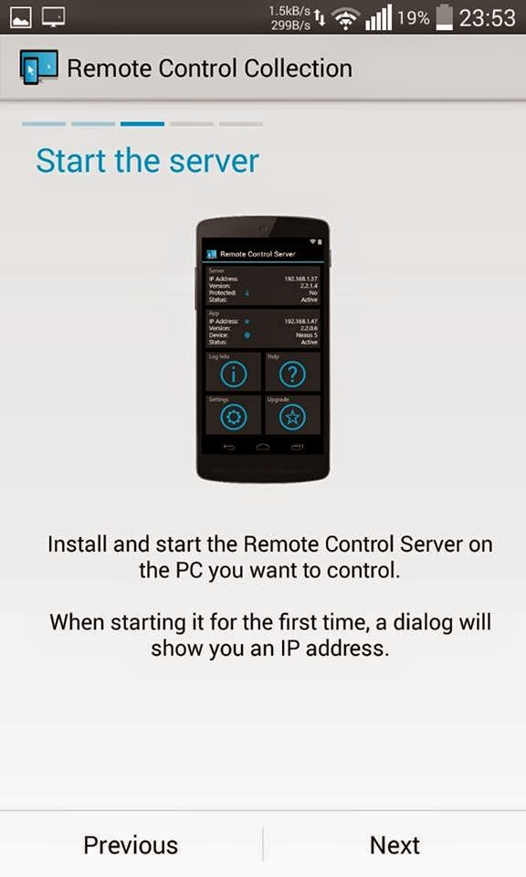 Remote control connection 3