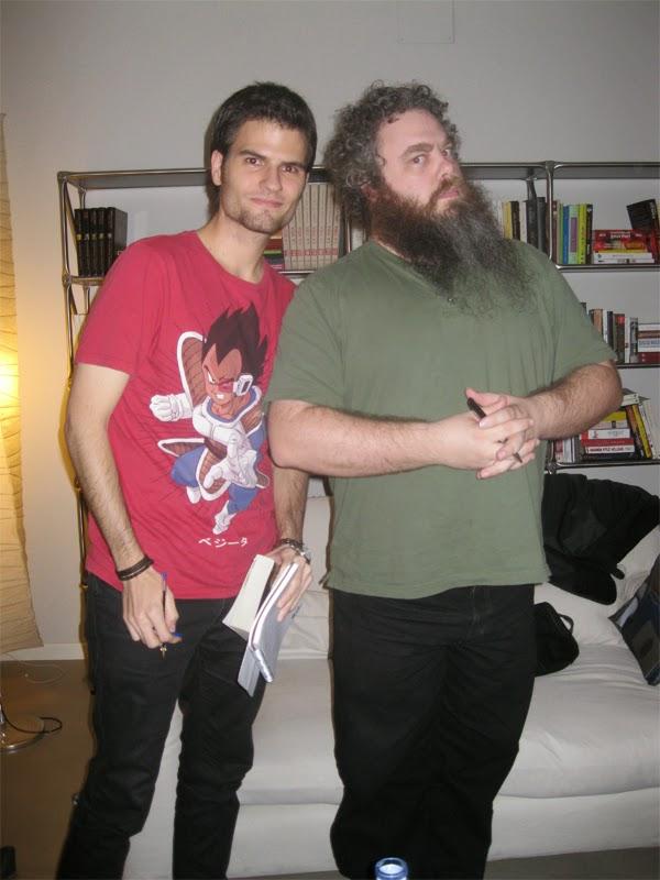 Eduardo Quintana con Patrick Rothfuss en Madrid