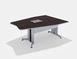 Training Table with Metal Legs