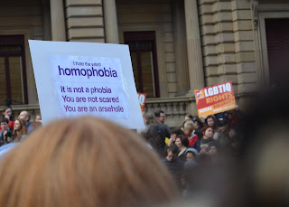 I hate the word homophobia. It's not a phobia. You are not scared. You are an arsehole.