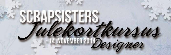 Jeg er designer på Scrapsisters julekortkursus