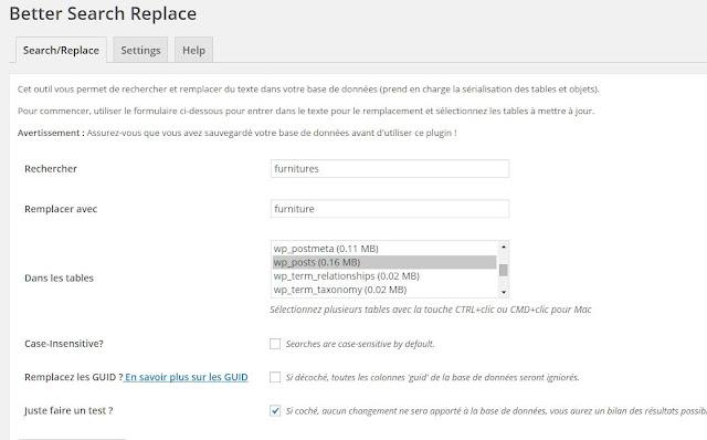 Better Search And Replace : une extension WordPress pour rechercher et remplacer en masse., A Unix Mind In A Windows World