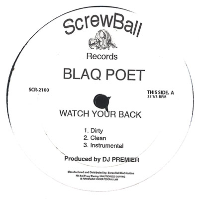 Blaq Poet – Watch Your Back / Bloody Mess (VLS) (2006) (192 kbps)