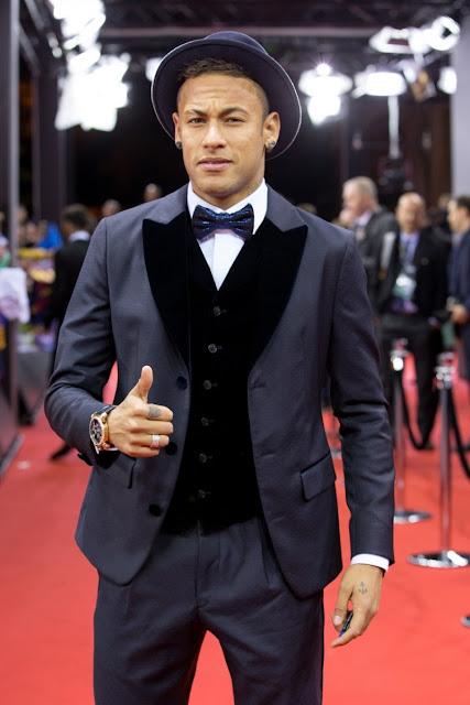 Neymar Jr en la gala Fifa Ballon d'Or awards
