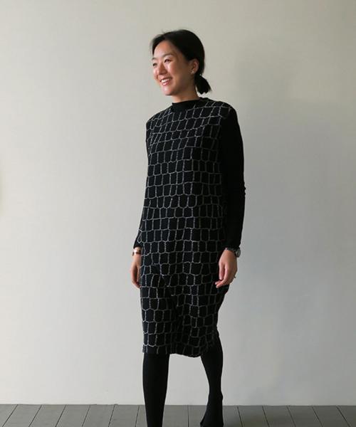Brick Patterned Dress