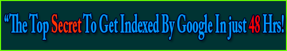 Top secret To Get Indexed By Google In just 48 Hrs