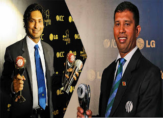 Sri Lankan`s Kumar Sangakkara and Dharmasena wins ICC awards 2012