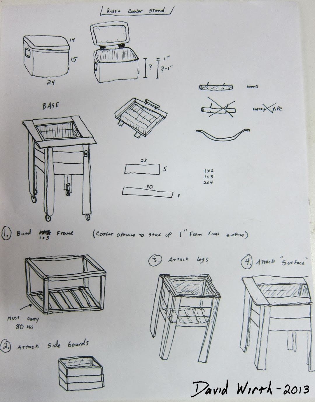 plans dimensions size make a wood cooler pallet stand