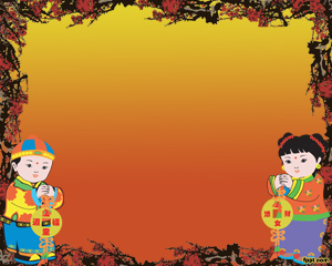 FREE Chinese New Year PowerPoint Background 1