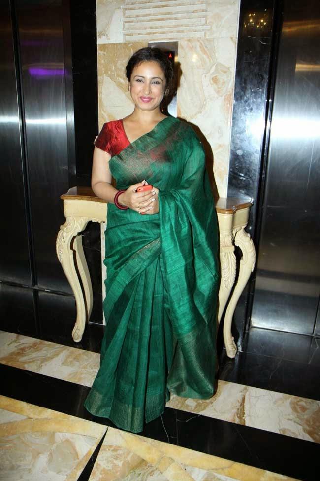 Divya Datta In Jute Silk Saree