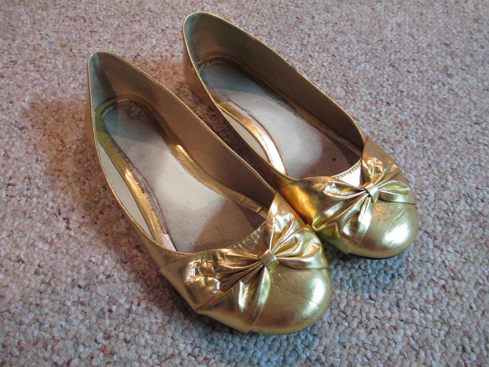 Gold Ballet Flats Very Trashed 7