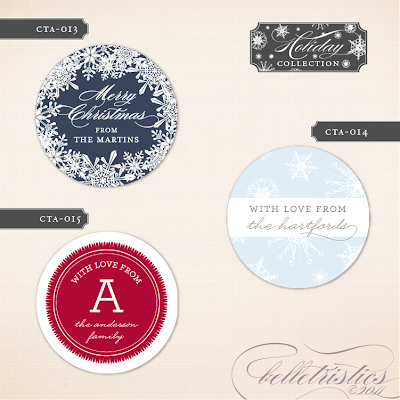 round circle printable holiday christmas gift tags stickers labels hostess gift new year's