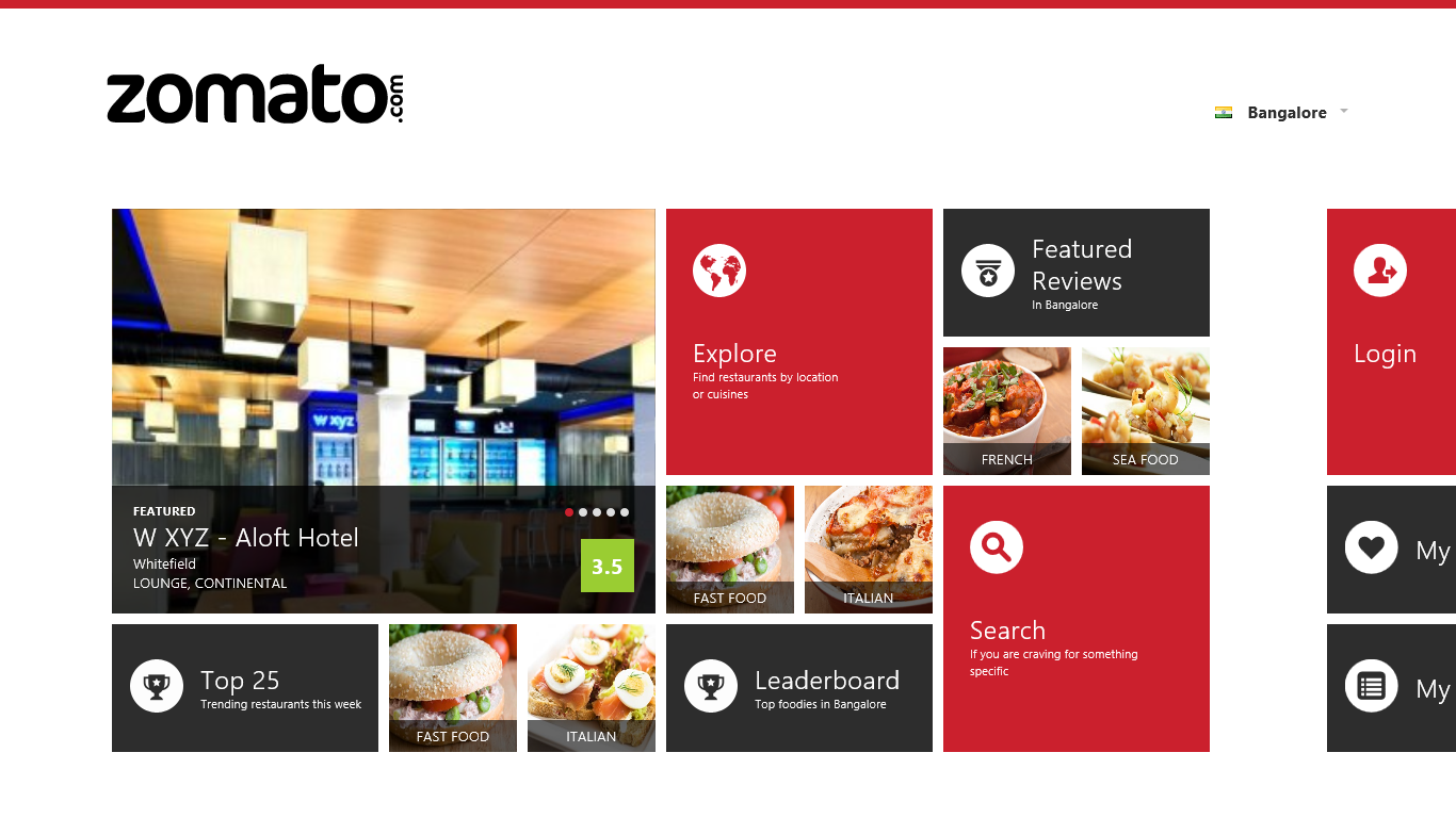 Archita 39 s blog review zomato app for windows 8 for The food bar zomato
