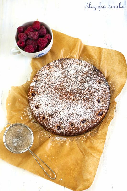 Ciasto z malinami przepis