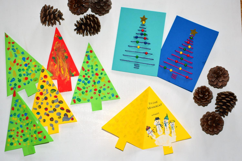 gallerphot weihnachtskarte basteln mit kindern. Black Bedroom Furniture Sets. Home Design Ideas