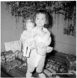 Yvonne Belair on Christmas 1960