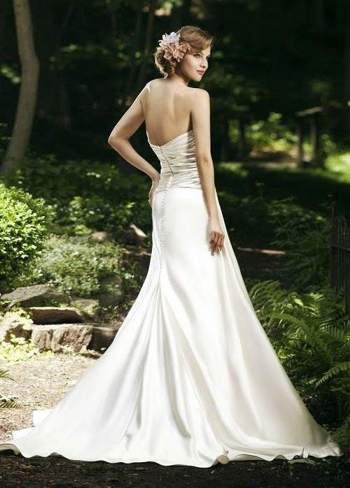 Simple Strapless Wedding Dress Silk Photos Concepts Ideas