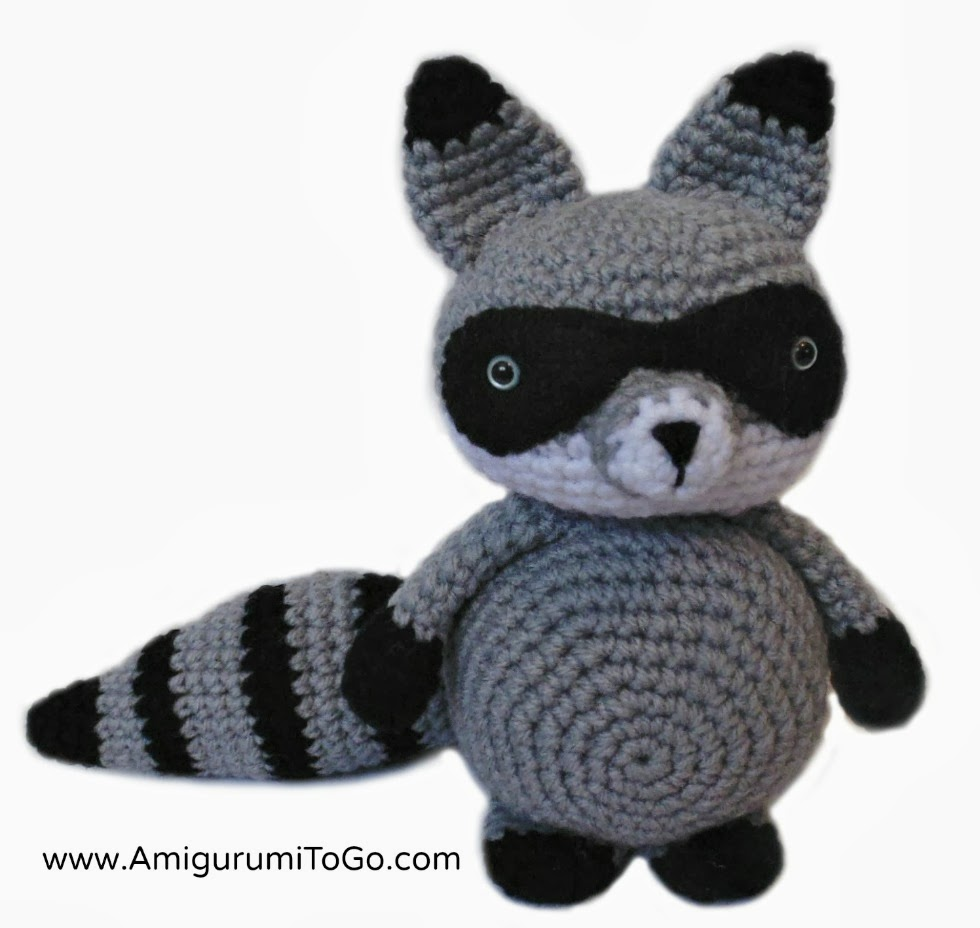 Amigurumi To Go Raccoon : Bandit The Amigurumi Raccoon ~ Amigurumi To Go