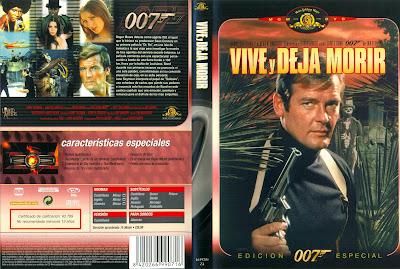 007: Vive y Deja Morir 1973 | Carátula | cine clásico