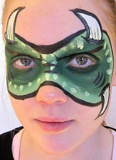 Grønt monster ansigtsmaling