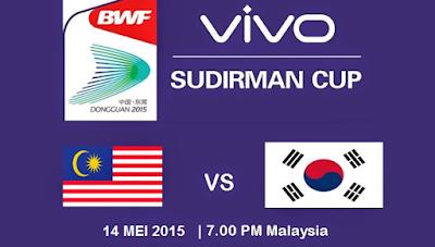 Keputusan Terkini Malaysia Vs Korea Selatan Piala Sudirman 11 Mei 2015