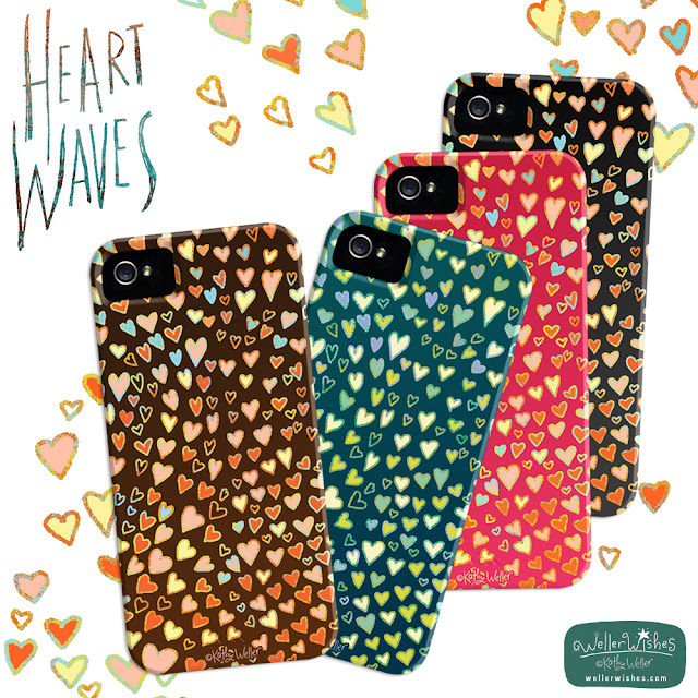 Heart Waves iphone case by Kathy Weller WellerWishes