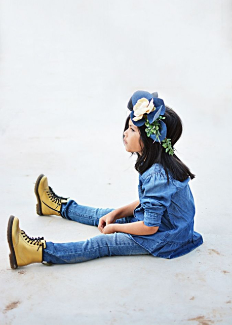 Total look denim #littleinspiration #ministyle #modaniña