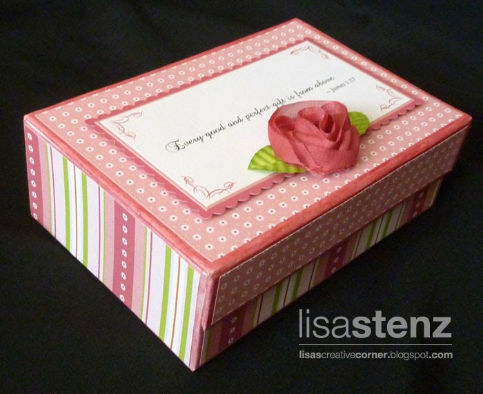 lisa s creative corner baby shower card box