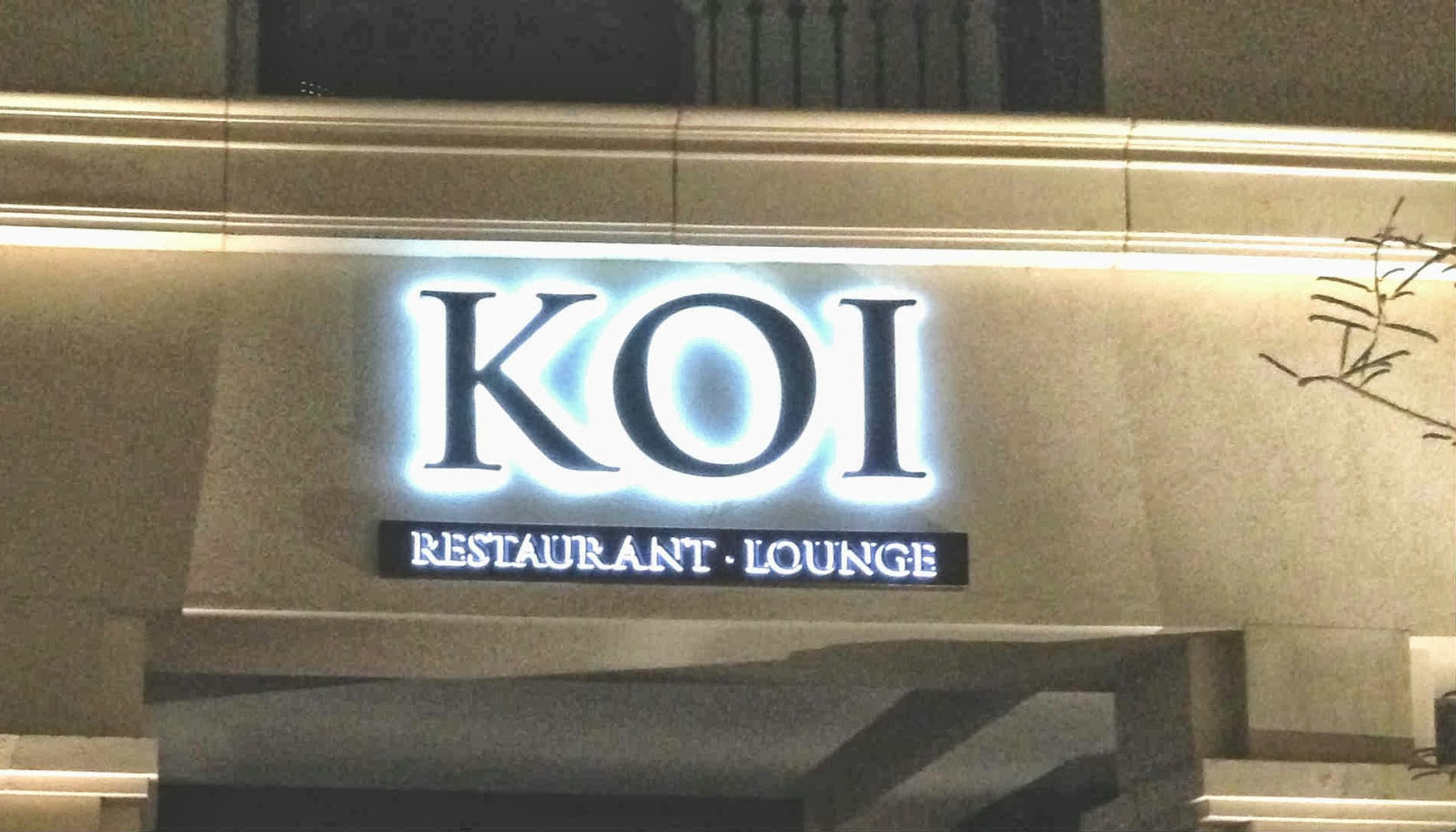 My small obsessions koi restaurant at the st regis for Koi restaurant los angeles