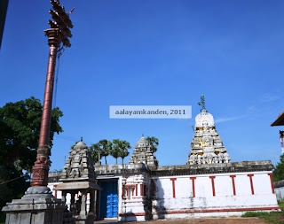The new Dwajasthambam (Kodimaram) with the closed temple