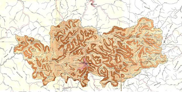 Miniatura do mapa IGA 1982 de Coimbra - MG. Baixe o mapa em alta resolução no link abaixo.