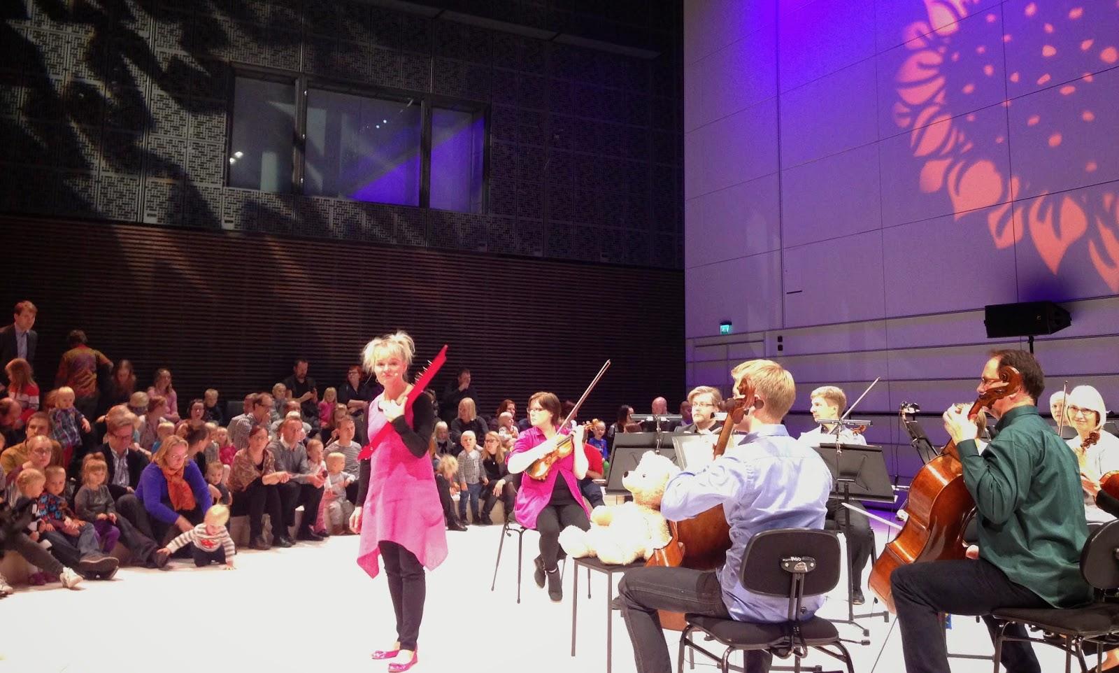Nalle Nappisilmä, HKO, HSO, Helsingfors stads orkester, barnkonsert, Musikhuset, Musiikkitalo,