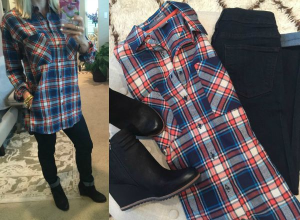 Fall fashion - plaid cotton flannel boyfriend shirts