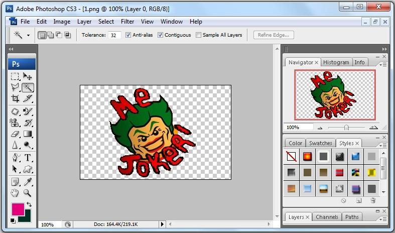 Trik Membuat Gambar Menjadi Transparan di Photoshop CS3