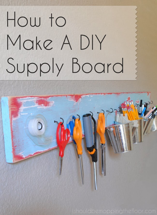 Easy and budget-friendly tutorial on creating a supply board. Perfect for a home office, kids' space or craft area.