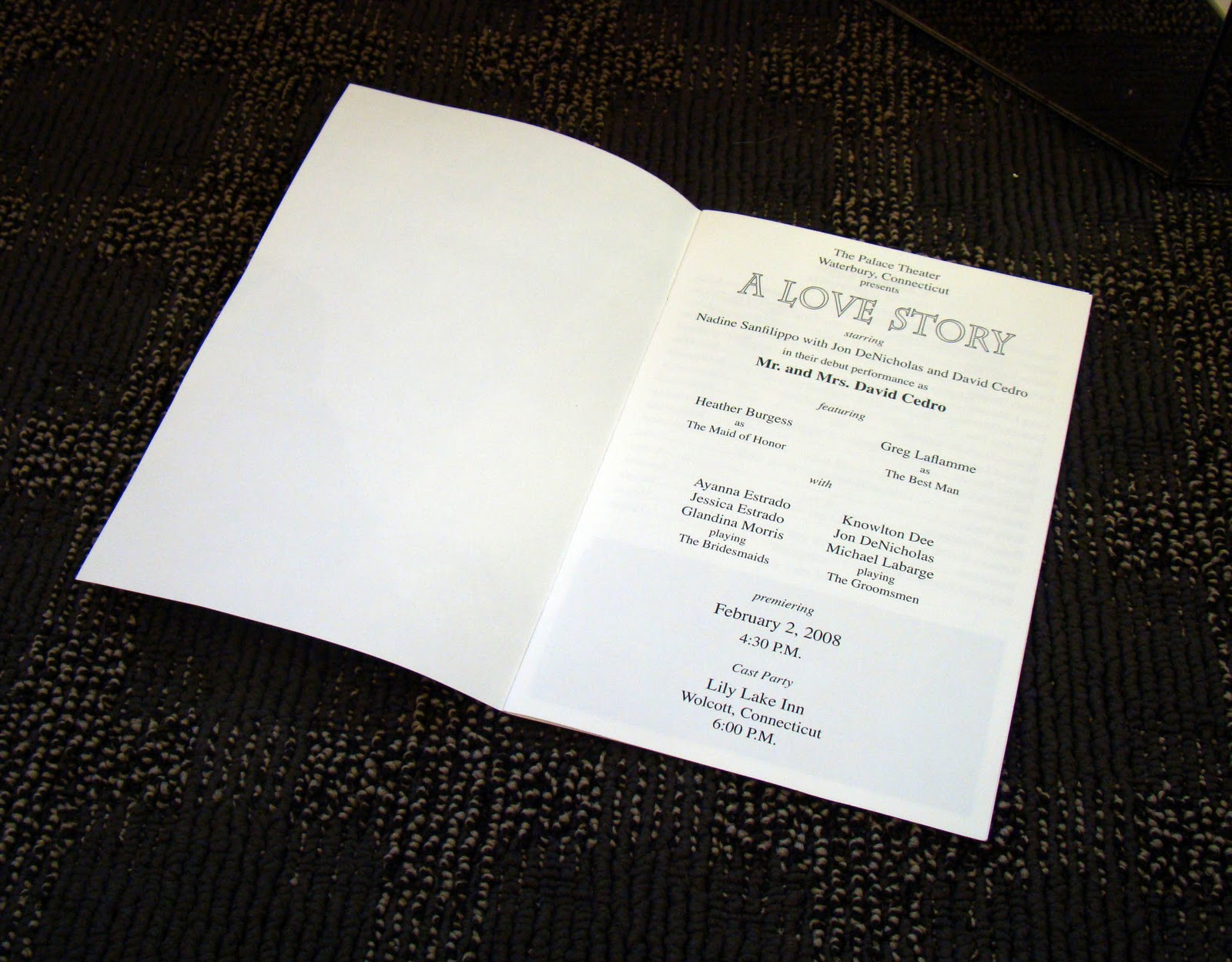 invitations to celebrations playbill wedding program