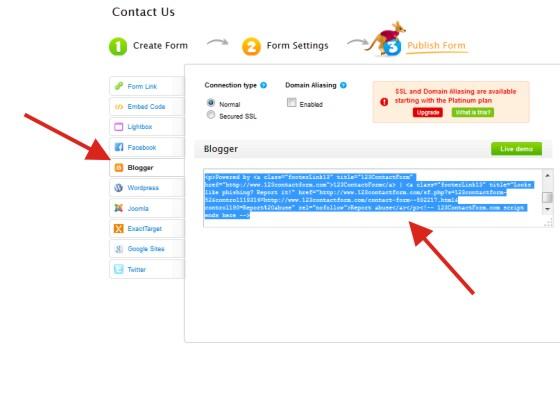 Langkah-langkah Bikin Halaman Kontak di Blog