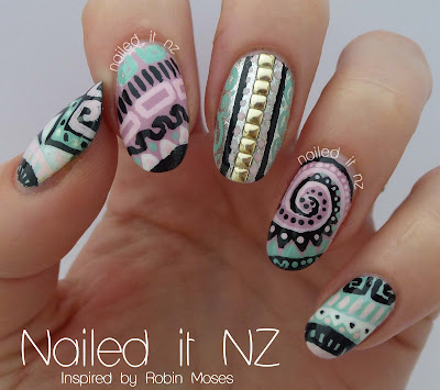 One year blogiversary giveaway and nail art competition tribal nail art done in april 2013 prinsesfo Gallery