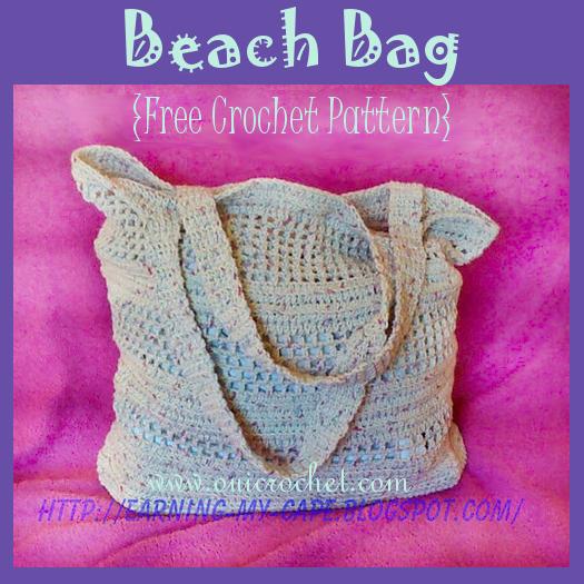 Oui Crochet: Crochet Beach Bag {Free Crochet Pattern}