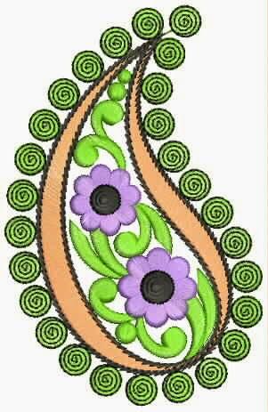 Paisley borduurwerk ontwerp appliekwerk