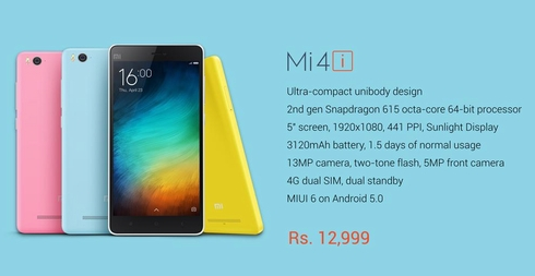 Harga Xiaomi Mi 4i