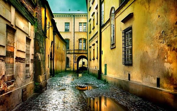 شارع في يوم ماطر