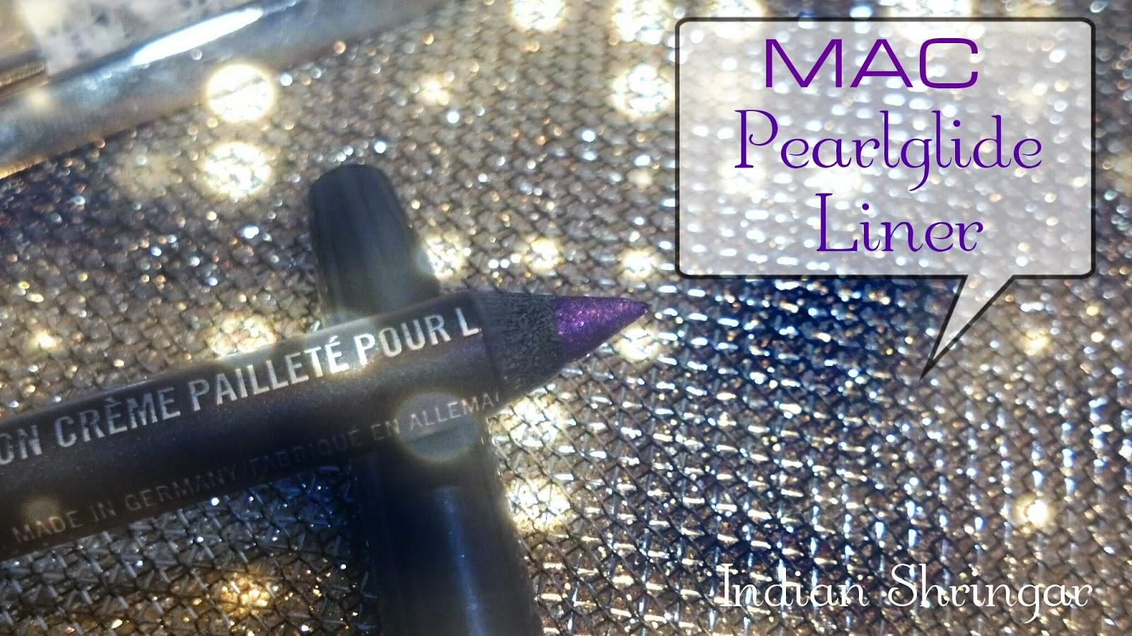 MAC Pearlglide Intense Eye Liner in Designer Purple - review and swatch