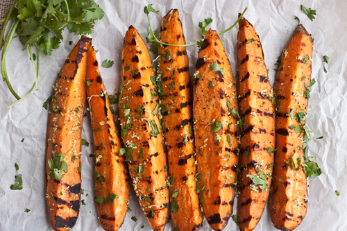 grilled cilantro lime sweet potatoes ingredients 3 sweet potatoes ...