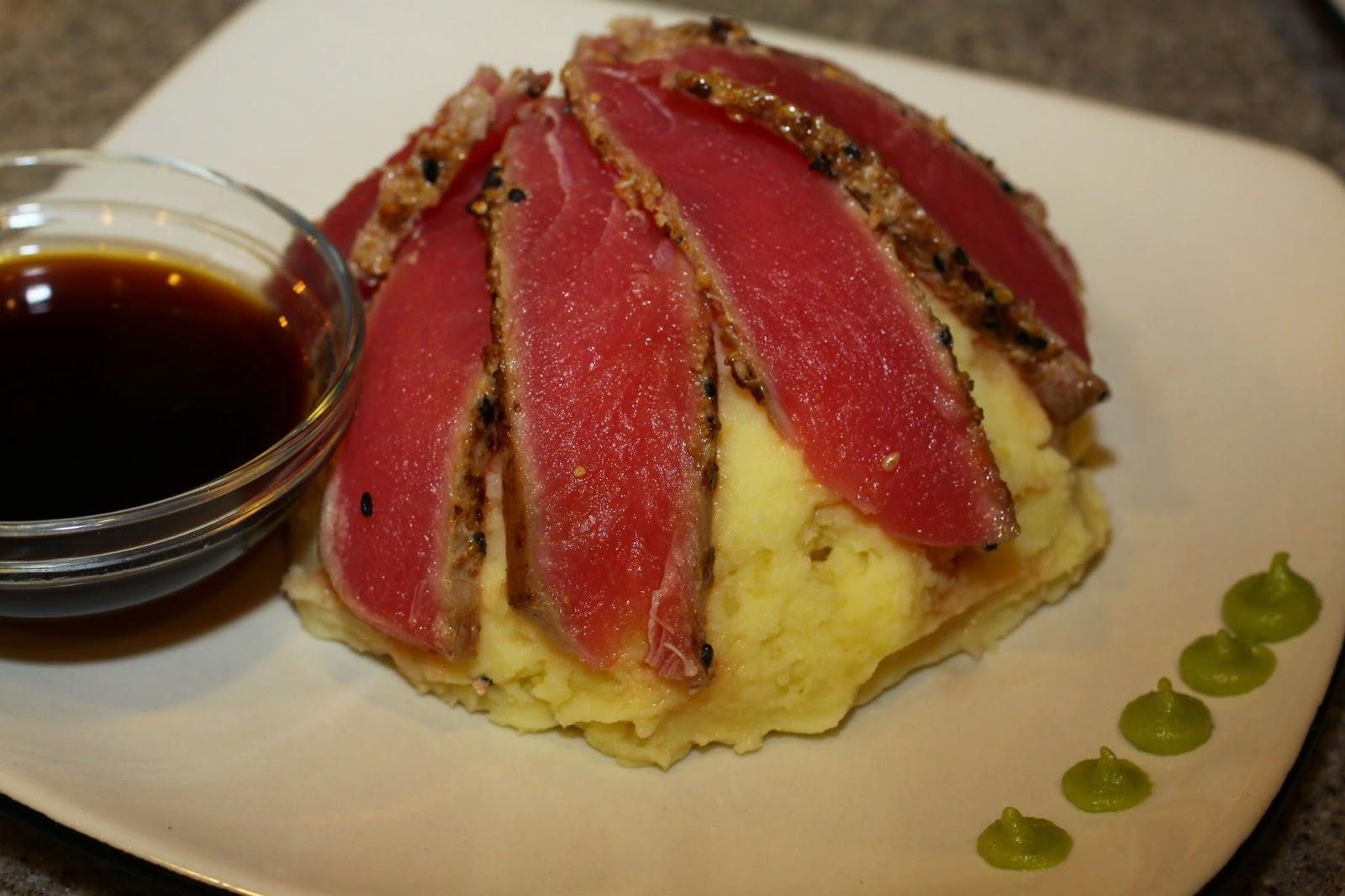 recipe: pan seared tuna with wasabi sauce [38]