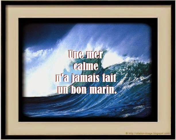 Belle citation sur la mer en image