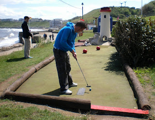 A view of the Adventure Golf course in Scarborough - it's very similar to the one in Littlehampton