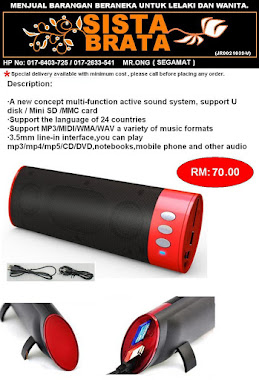 MP3 speaker SB01 RM 70 (new stock)