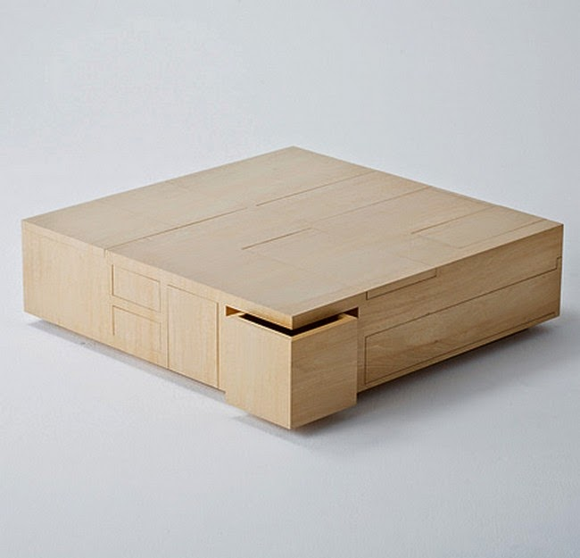 Kai Table with hidden boxes