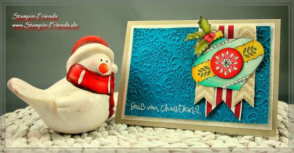 Stampin Up, Weihnachtskarte selber basteln